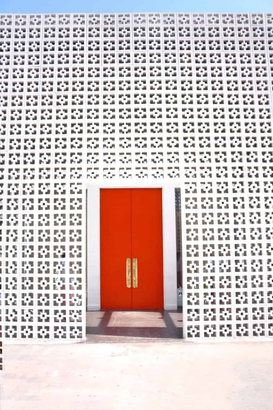 parker palm springs orange doors