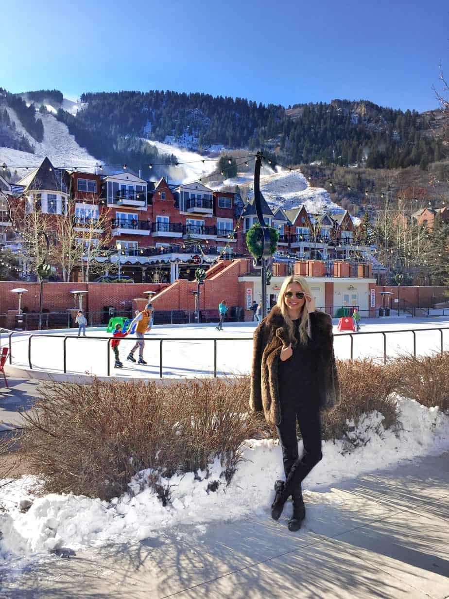 stylish woman in aspen