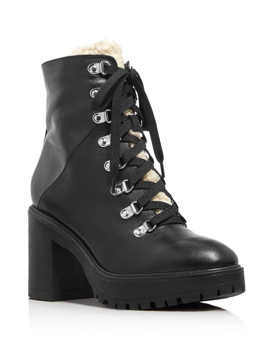 Aqua Women's Roy Faux Fur Platform Ankle Boots, $159