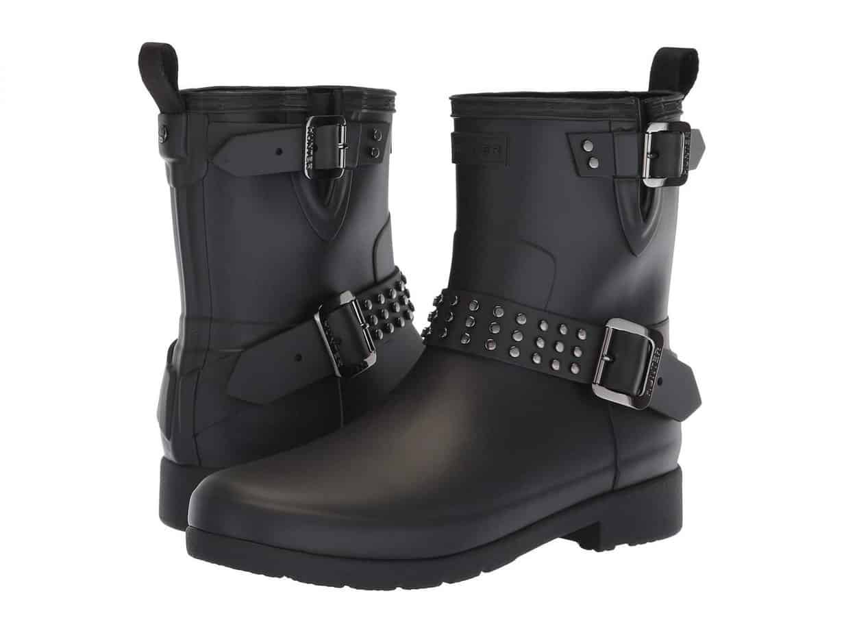 Hunter Refined Stud Biker Boots, $185
