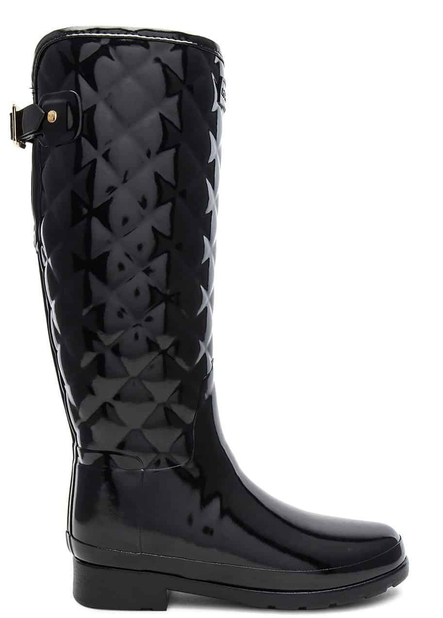 Hunter Refined Gloss Quilt Tall Boot