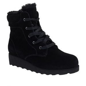 bearpaw phoebe suede sheepskin lace up hiker boot