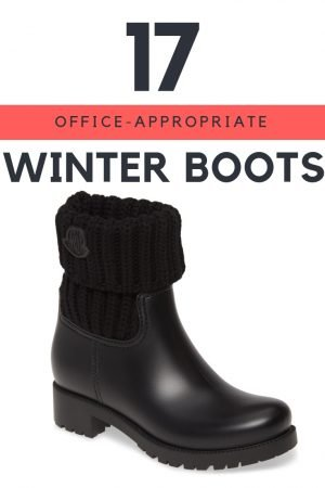 17 Office Appropriate Winter Boots for Women