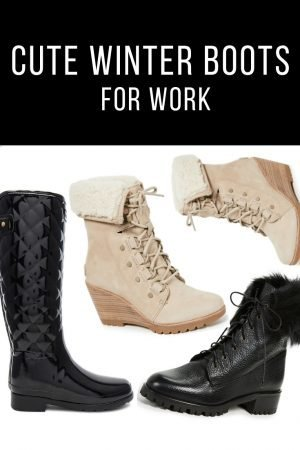 cute winter boots for work