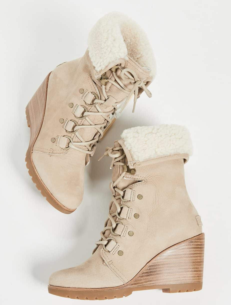 by: SOREL AFTER HOURS LACE UP SHEA BOOTS