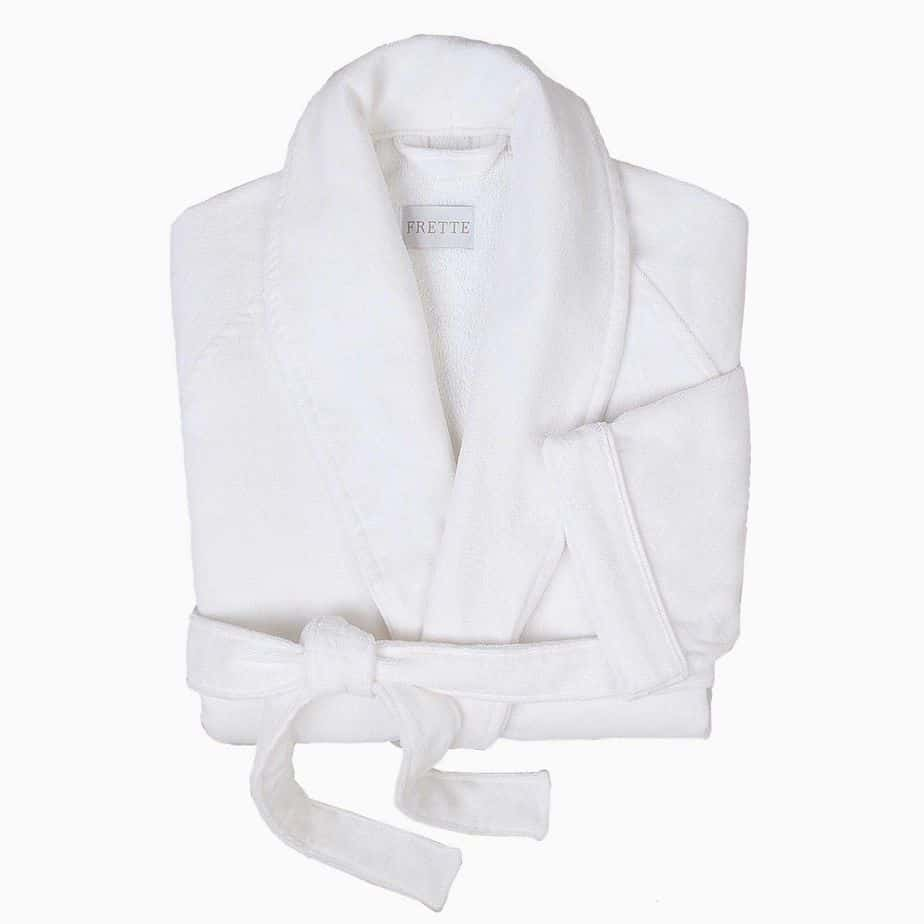 frette white bathrobe