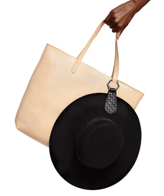 Top Tote Leather Hat Clip