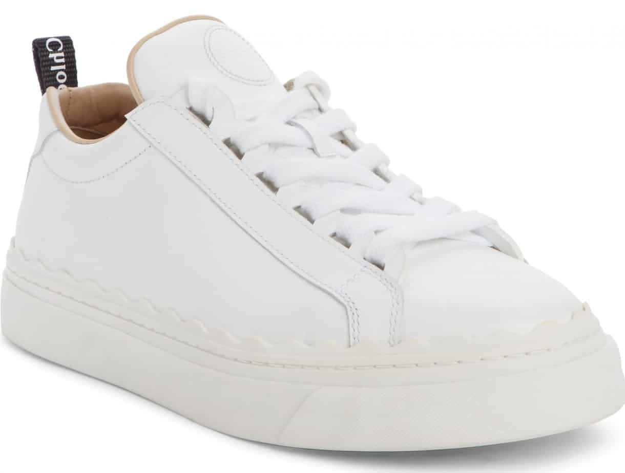 chloe white leather sneaker