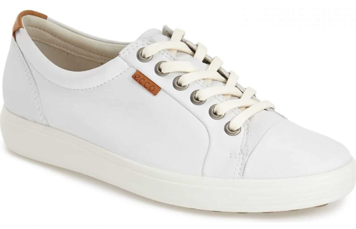 ecco white leather sneaker