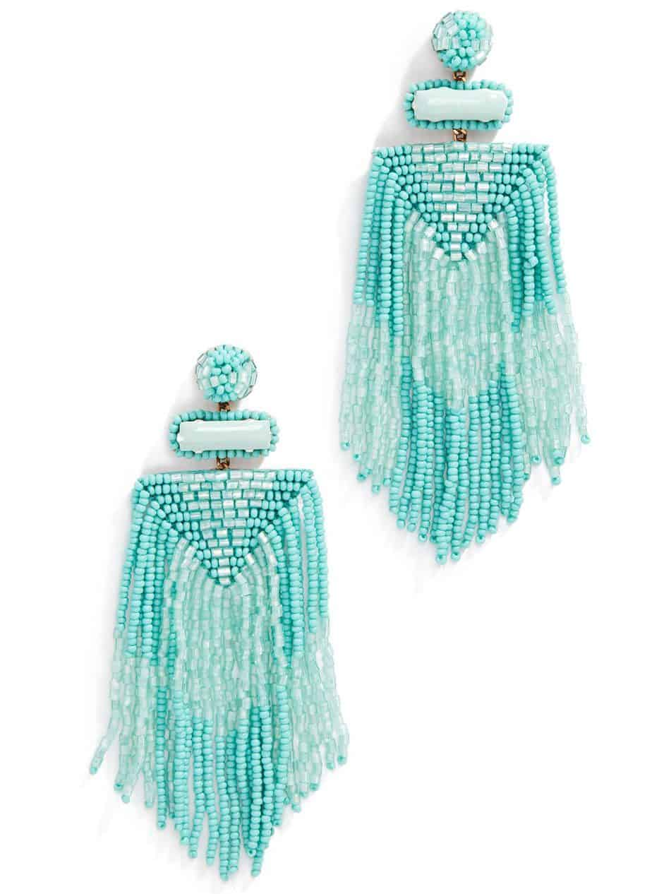 deepa gurnani beaded earrings summer jewelry trends 2019