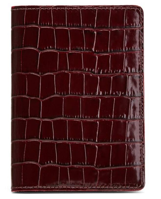 Cuyana leather passport case