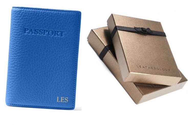 Leatherology Leather Personalized Passport Cover