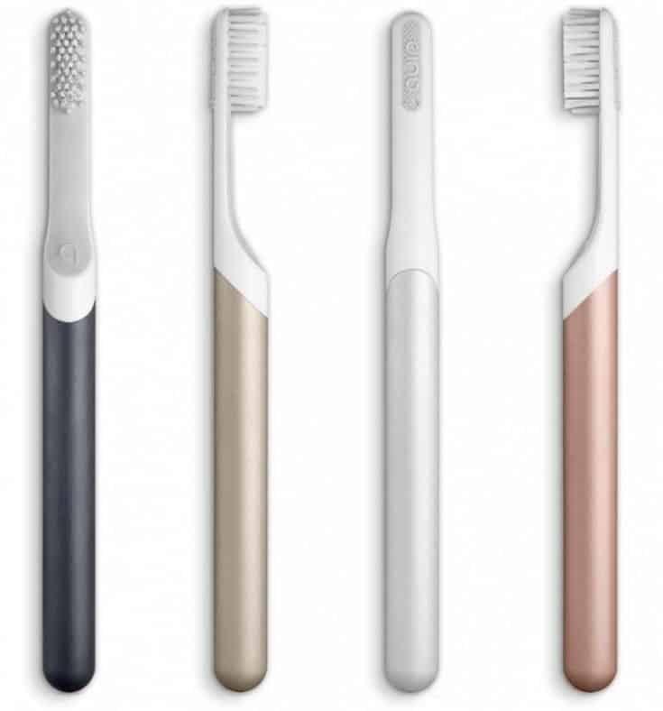 Silver metal electric toothbrush