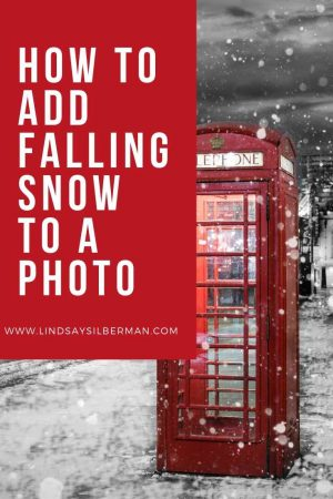 how to add falling snow to a photo