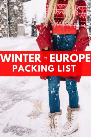 winter europe vacation packing list