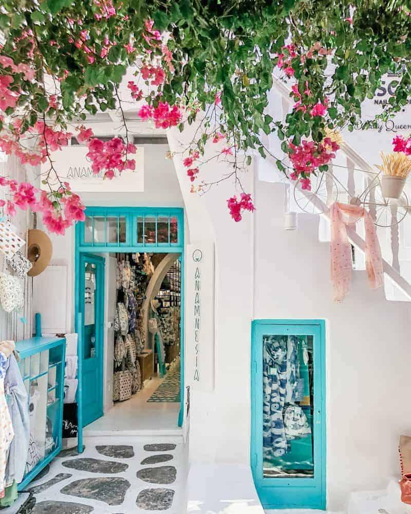 mykonos town shopping boutiques