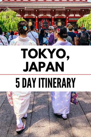 tokyo for 5 days itinerary