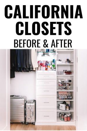 california closets before and after