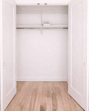 empty reach-in closet