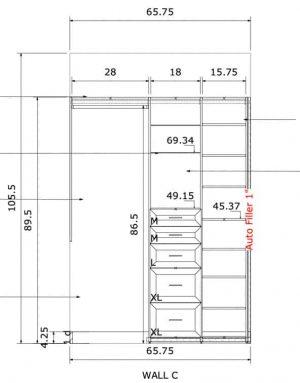 custom closet sketch design