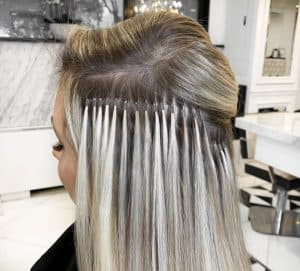 micro beaded hair extensions