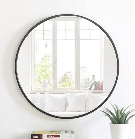 metal frame round mirror overstock
