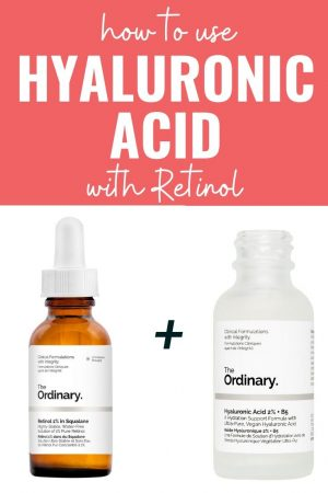 how to use hyaluronic acid with retinol