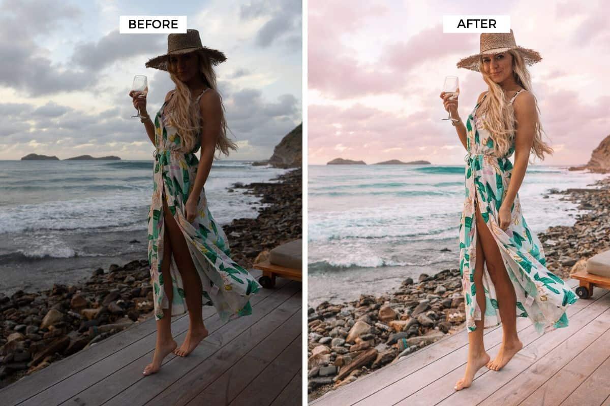lightroom preset before after