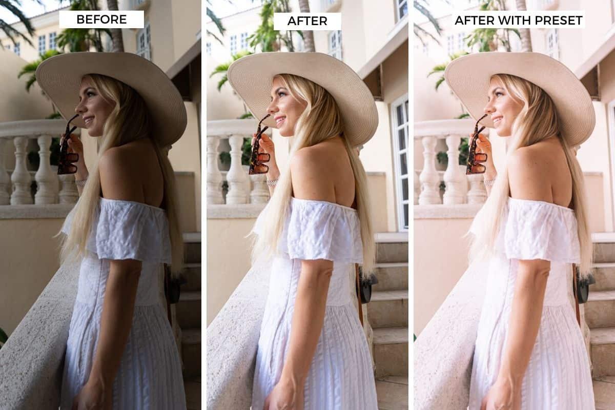 before after lightroom edit