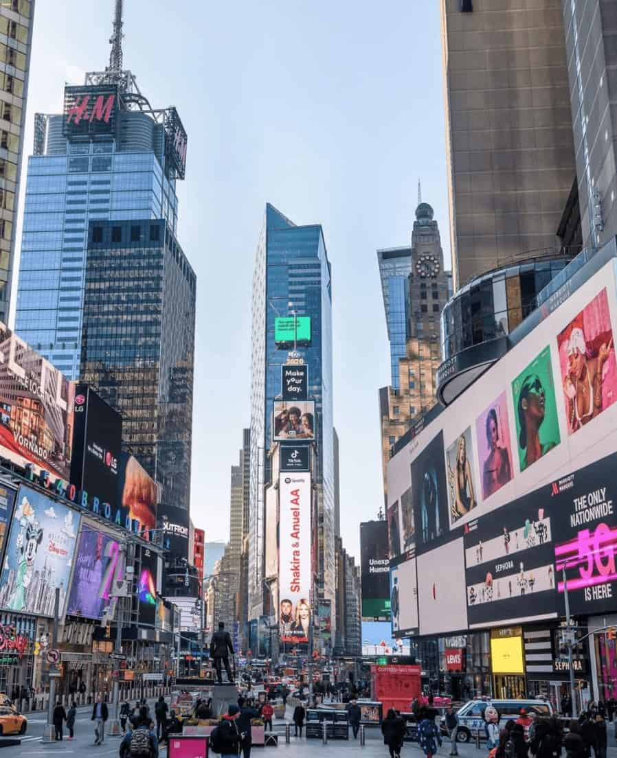 most instagrammable places in nyc times square