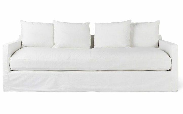 Carmel White Denim Couch
