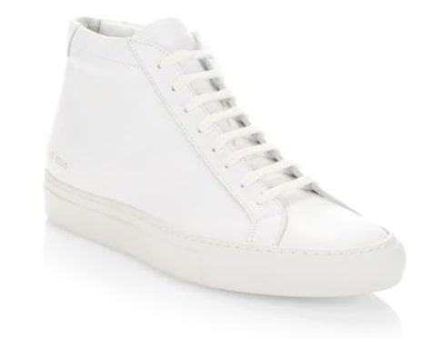 Common Projects High Top Achilles White Sneakers for Men