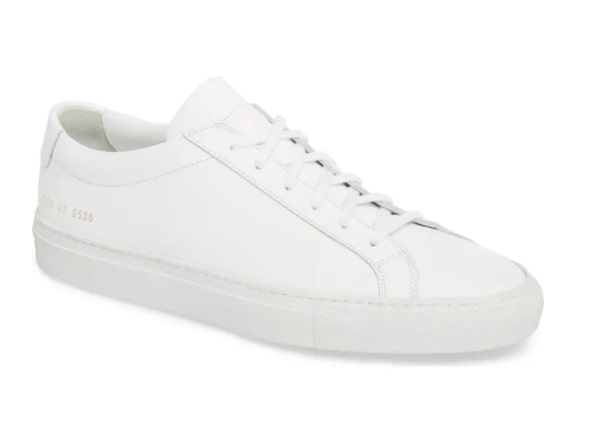Common Projects Low Top Achilles White Sneakers for Men