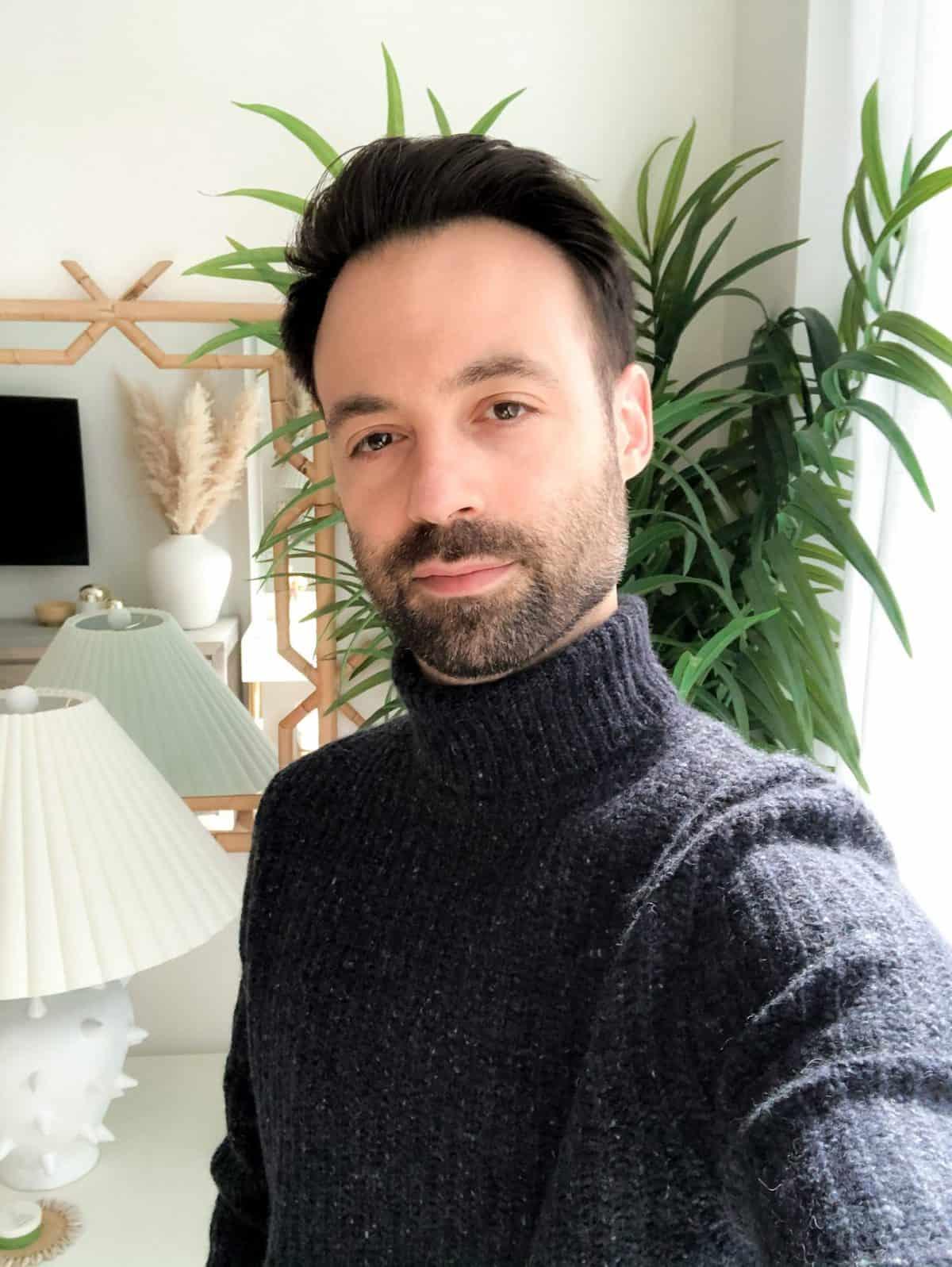 Naadam Marled Cashmere Turtleneck Sweater