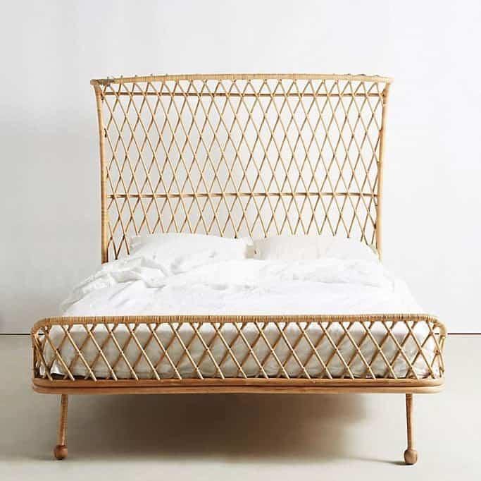 Curved Rattan Bed Frame, Anthropologie