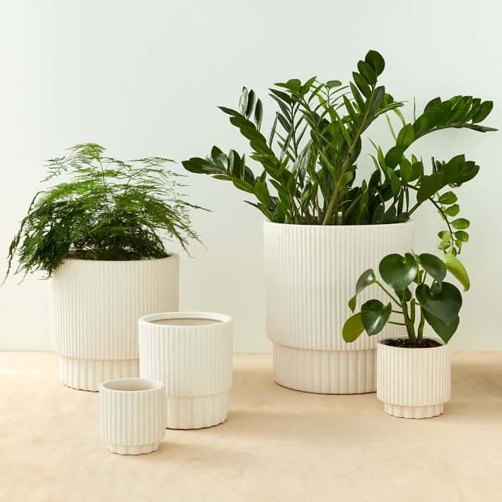 Fluted Indoor/Outdoor Planters