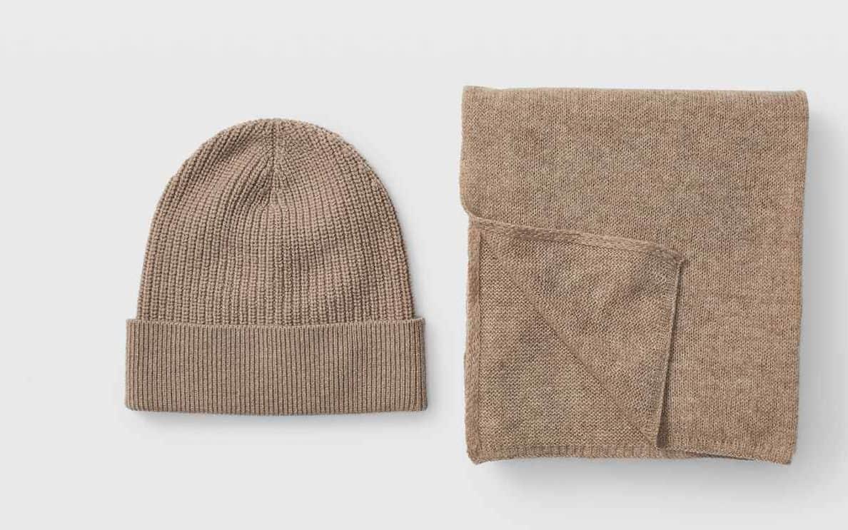 knit beanie scarf set