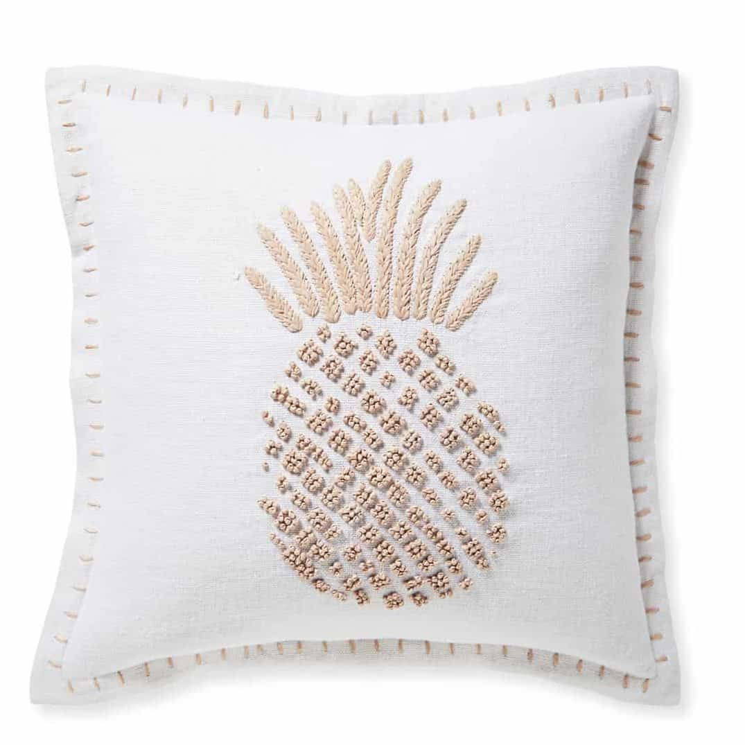embroidered pineapple pillow