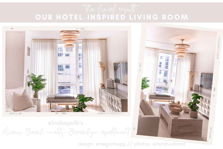 hotel inspired living room lindsay silberman