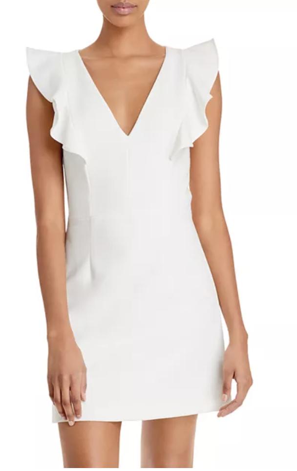 white bridal shower dress